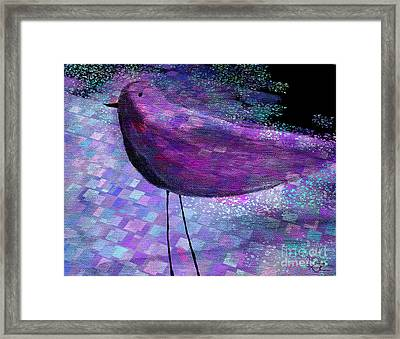 The Bird - S40b Framed Print by Variance Collections