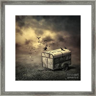 The Bird Table Framed Print