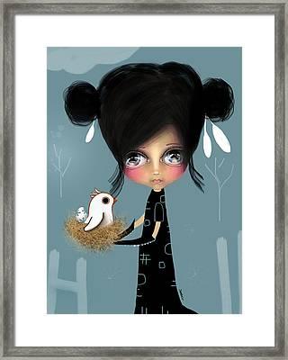 The Bird Whisperer Framed Print by Karin Taylor