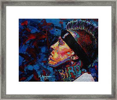 The Birdman Chris Andersen Framed Print by Maria Arango