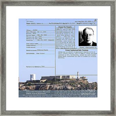 The Birdman Of Alcatraz San Francisco 20130323v2 Square Framed Print by Wingsdomain Art and Photography