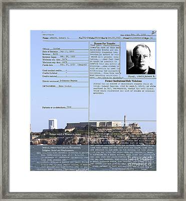 The Birdman Of Alcatraz San Francisco 20130323v2 Framed Print by Wingsdomain Art and Photography
