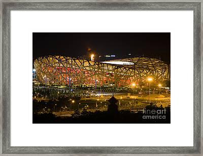 The Birds Nest Stadium China Framed Print