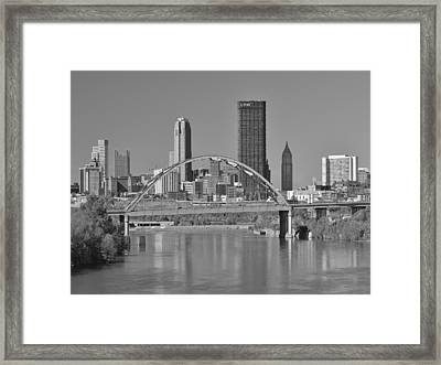 The Birmingham Bridge In Pittsburgh Framed Print