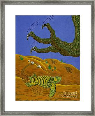 The Birth Of Archelon Framed Print by Gerald Strine