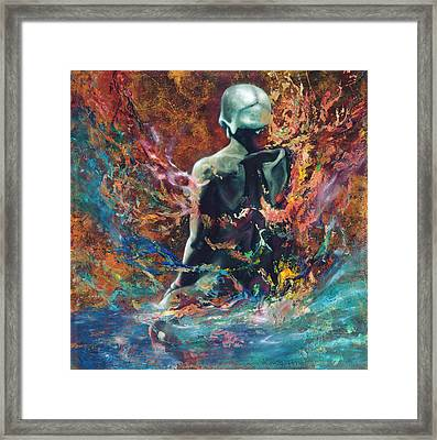 The Birth Of Eve Framed Print by Kd Neeley