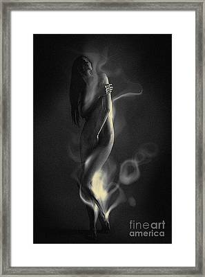 Framed Print featuring the pyrography The Birth Of by Evgeniy Lankin