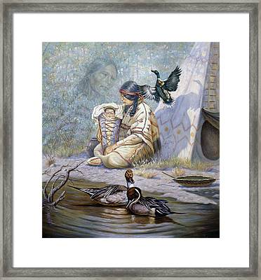 The Birth Of Hiawatha Framed Print