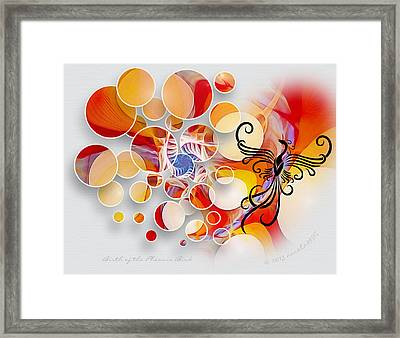 The Birth Of The Phoenix Bird Framed Print by Gayle Odsather