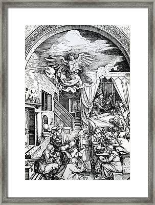 The Birth Of The Virgin, From The Cycle Of The Life Of The Virgin, 1511 Framed Print by Albrecht Durer or Duerer