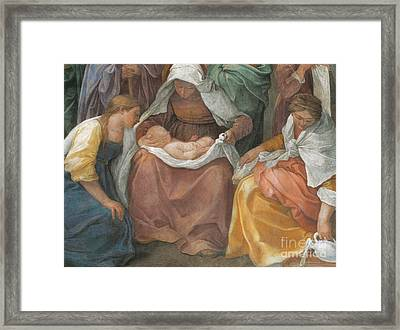 The Birth Of The Virgin Framed Print by Guido Reni