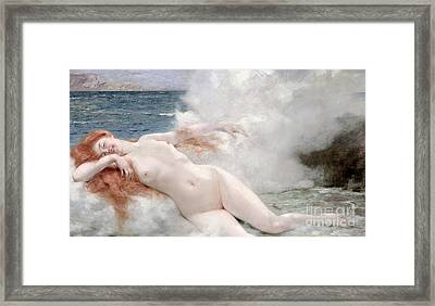 The Birth Of Venus Framed Print by Henri Gervex