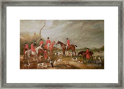 The Birton Hunt Framed Print by John E Ferneley