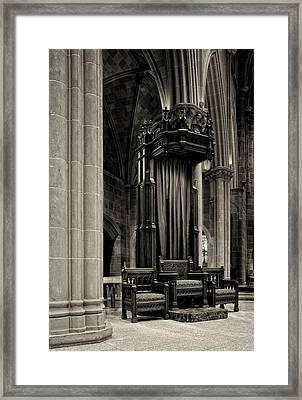 The Bishops Chair Framed Print by Dick Wood