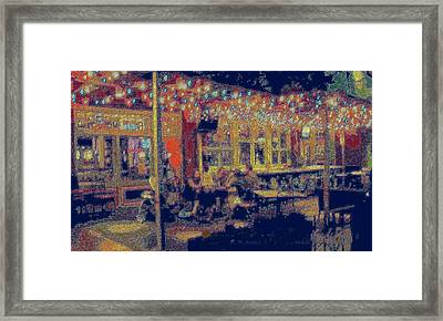 The Bistro Patio Framed Print