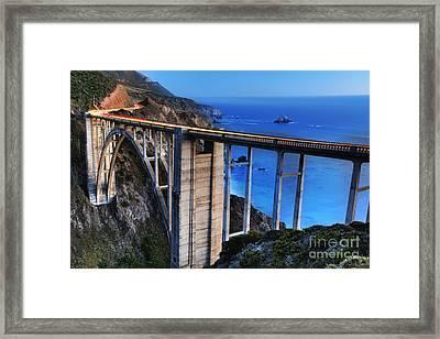The Bixby Bridge  Framed Print by Marco Crupi