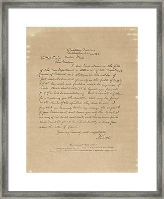 The Bixby Letter Framed Print by Celestial Images