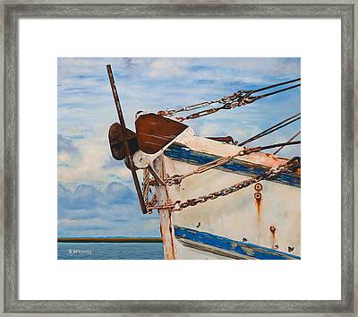 Framed Print featuring the painting the B.J. Henry by Rick McKinney
