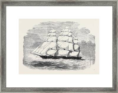 The Black Ball Line Clipper Ship James Baines With Troops Framed Print by English School