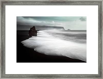 The Black Beach Framed Print