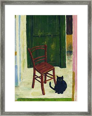 The  Black Cat Framed Print by Hartmut Jager