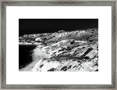 The Black Coast Framed Print by John Rizzuto