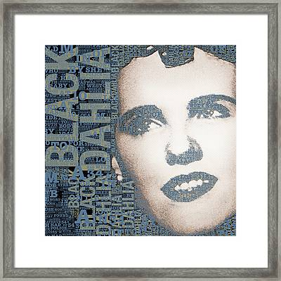 The Black Dahlia Elizabeth Short Framed Print