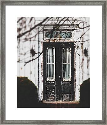 The Black Door Framed Print by Lisa Russo