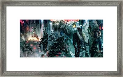 The Black Hole Gang Framed Print by Ryan Barger