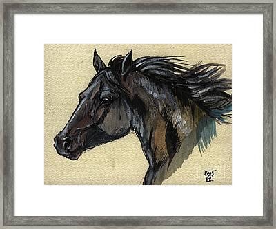 The Black Horse Framed Print