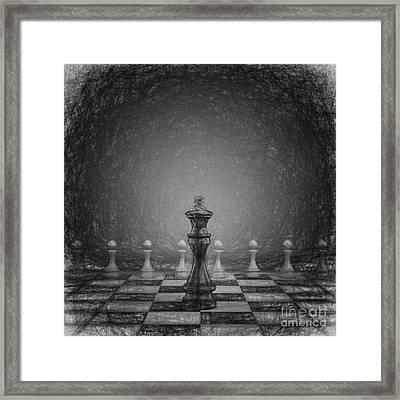 The Black King Framed Print
