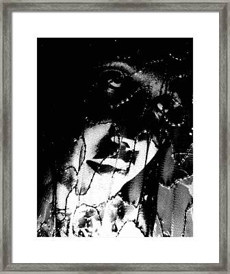 Framed Print featuring the photograph The Black Madonna by Cleaster Cotton