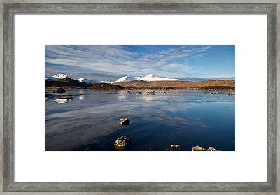 Framed Print featuring the photograph The Black Mount by Stephen Taylor