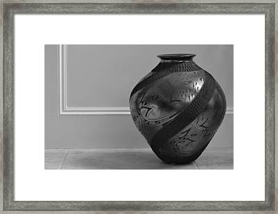 Framed Print featuring the photograph The Black Pot by Nadalyn Larsen