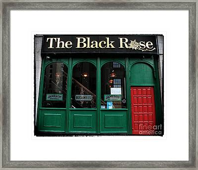 The Black Rose Of Boston Framed Print by John Rizzuto