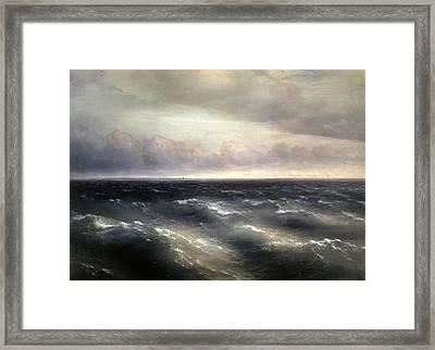 The Black Sea Framed Print by Ivan Konstantinovich Aivazovsky