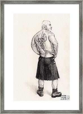 The Black Silk Kilt Framed Print
