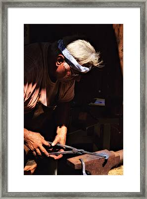 The Blacksmith Framed Print by Bob Wall