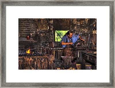The Blacksmith Framed Print by Donna Doherty