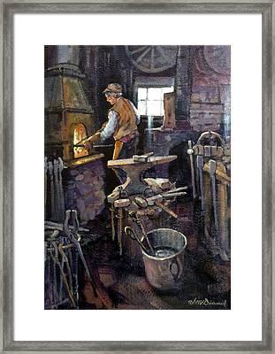 The Blacksmith Framed Print by Richard McDiarmid