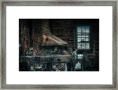Framed Print featuring the photograph The Blacksmith's Forge - Industrial by Gary Heller