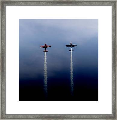 Framed Print featuring the photograph The Blades Going Up Sunderland Air Show 2014 by Scott Lyons