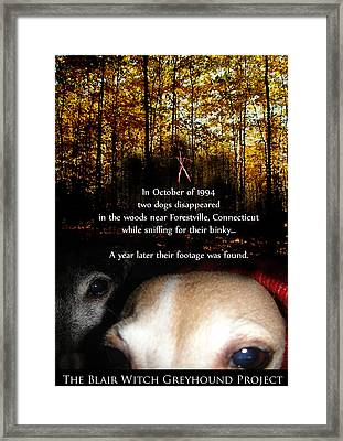 The Blair Witch Greyhound Project Framed Print