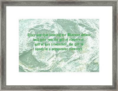 The Blarney Stone Framed Print by LeeAnn McLaneGoetz McLaneGoetzStudioLLCcom