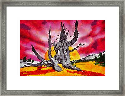 The Bleeding Tree Framed Print by George Rossidis