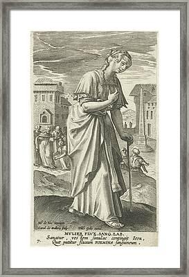 The Bleeding Woman, Karel Van Mallery, Philips Galle Framed Print by Karel Van Mallery And Philips Galle And Cornelis Kiliaan