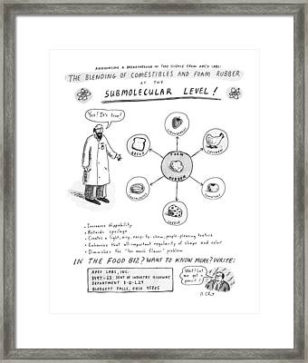 The Blending Of Comestibles And Foam Rubber Framed Print by Roz Chast