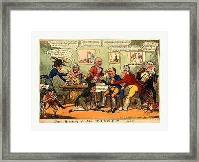 The Blessing Of New Taxes Engraving Framed Print