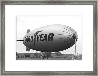 The Goodyear Blimp In 1979 Framed Print
