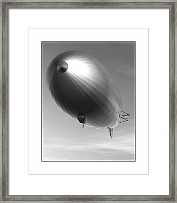 Framed Print featuring the digital art The Blimp... by Tim Fillingim